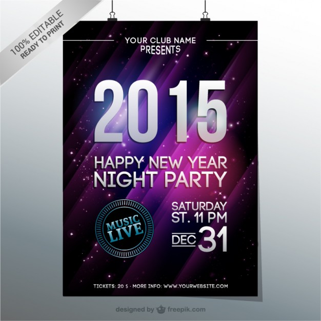 31st party new year poster