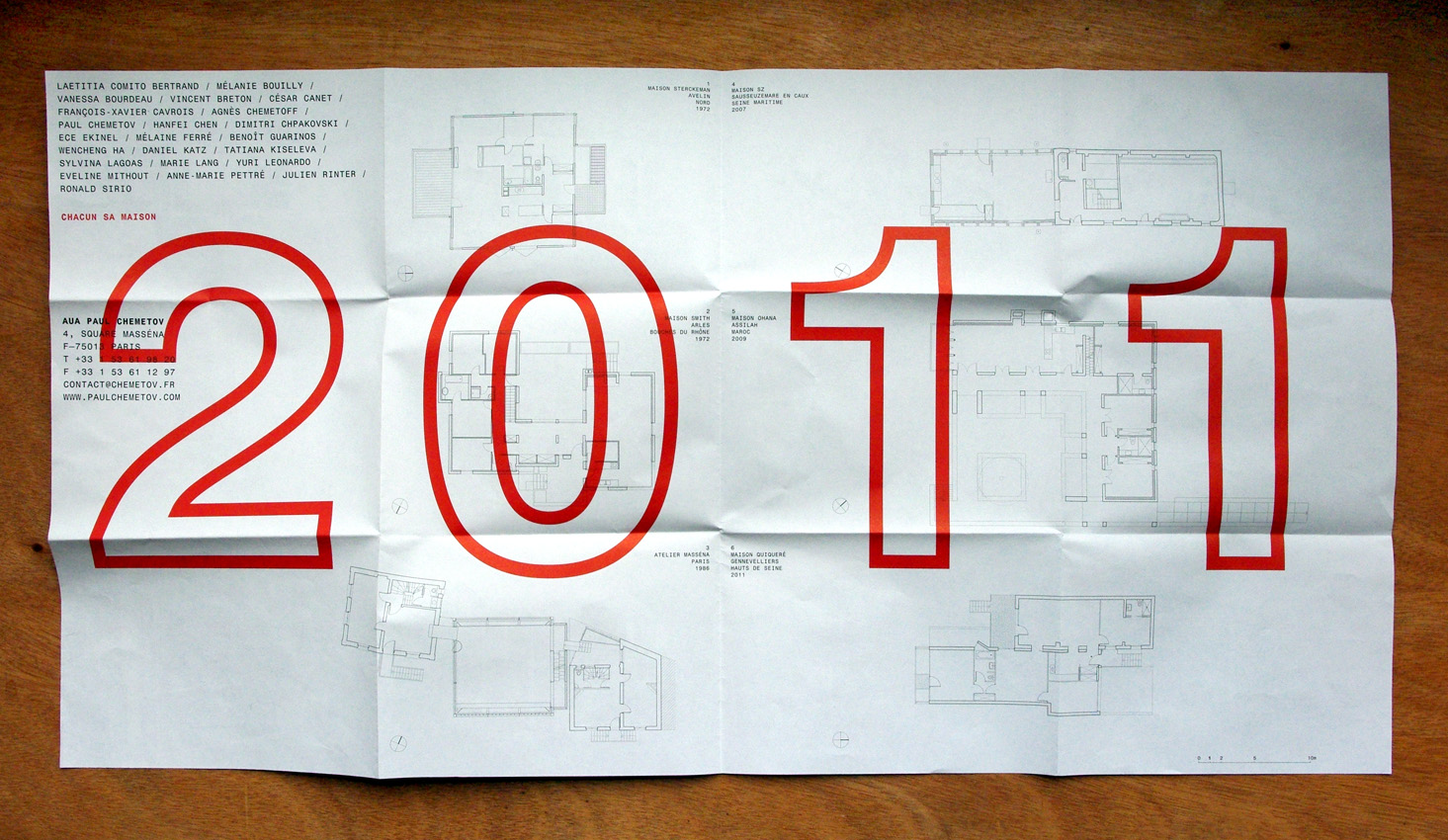 architect new year cards