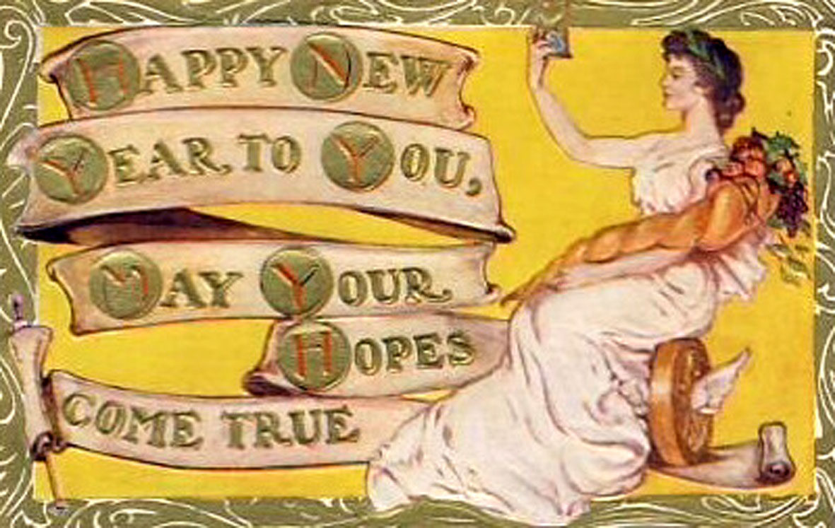 art deco new year cards