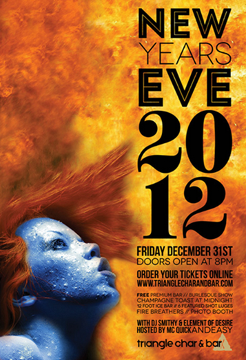 bar event new year poster