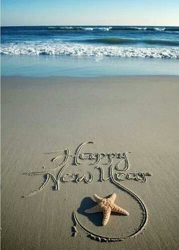 beach new year saying