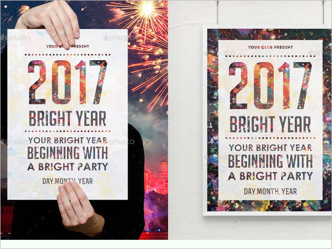 bright new year poster