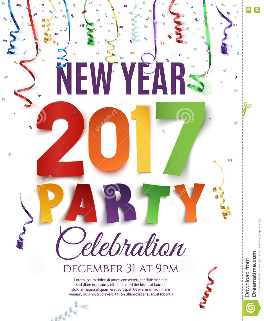 celebration party new year poster