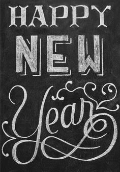 chalkboard new year messages
