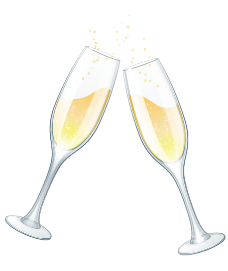 champagne glass new year clip art
