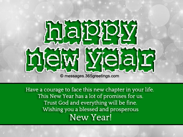 christians new year saying