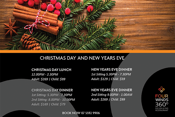christmas eve dinner new year poster
