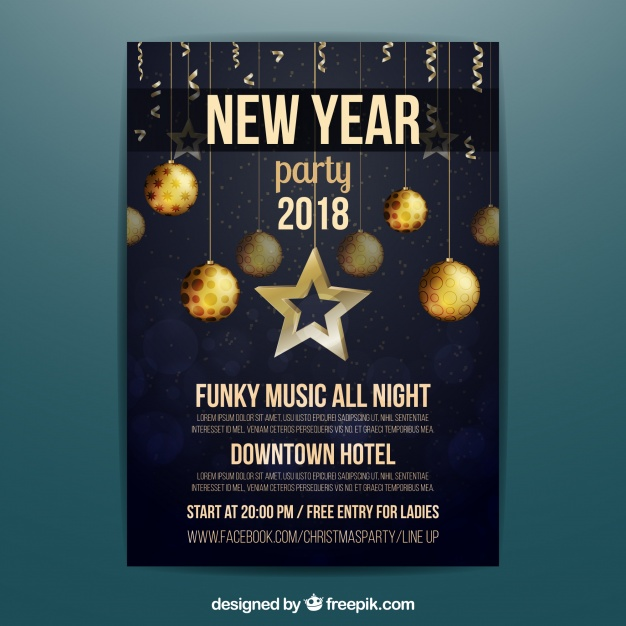 classy party new year poster