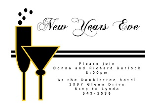 cocktail party new year invitation