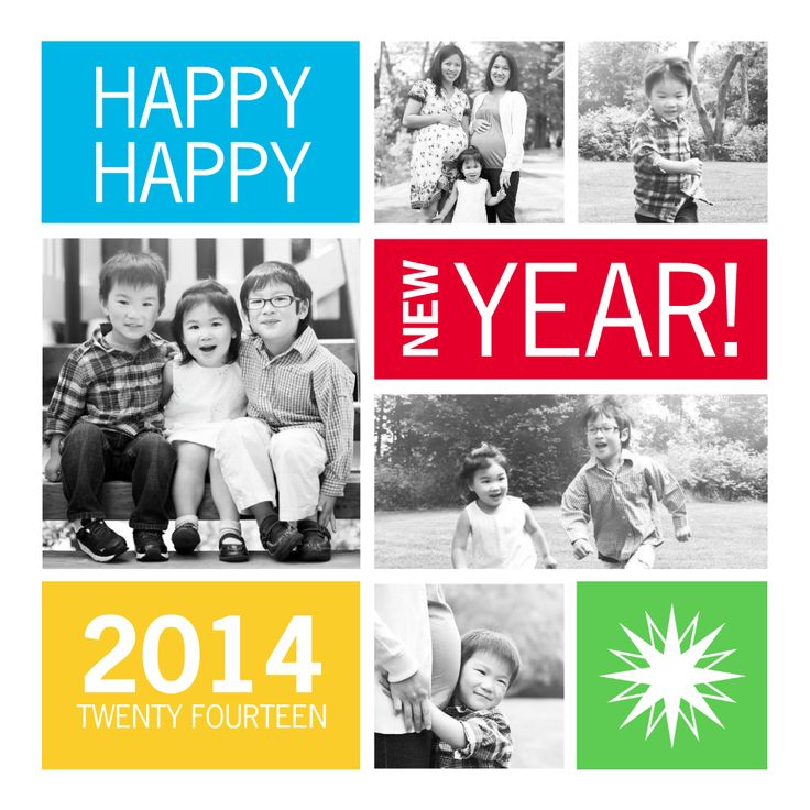 collage new year cards