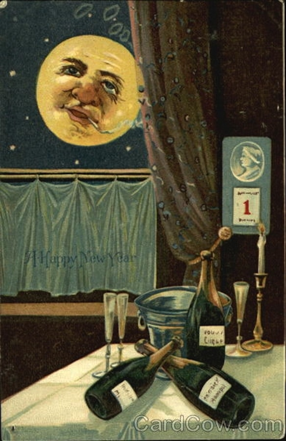 creepy new year cards