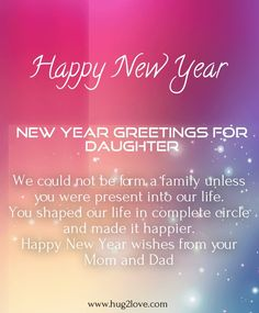 daughter new year messages