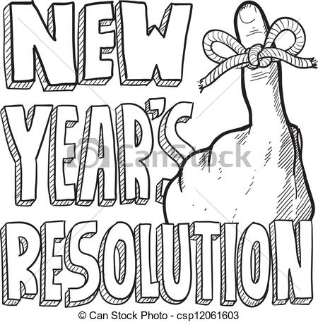 drawing new year clip art