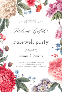 farewell party new year border