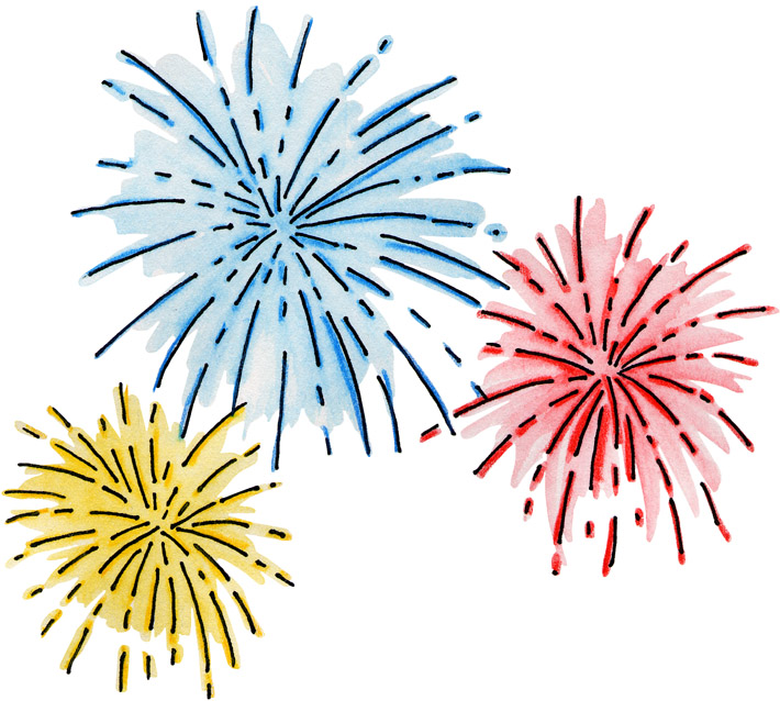 firework animation new year clip art