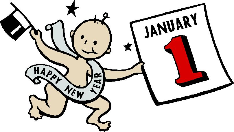 first day new year clip art