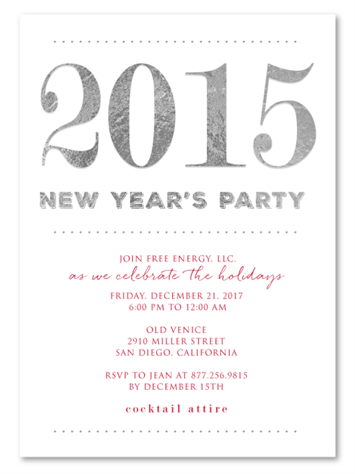 fundraiser new year invitation