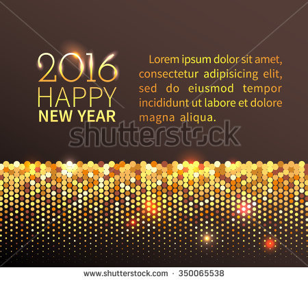 gold sequin new year border