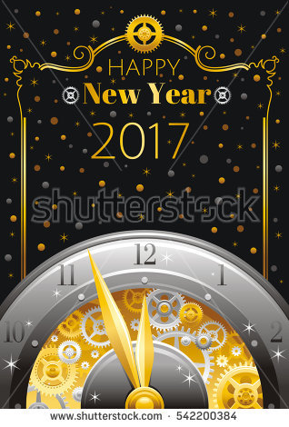 gold star new year border