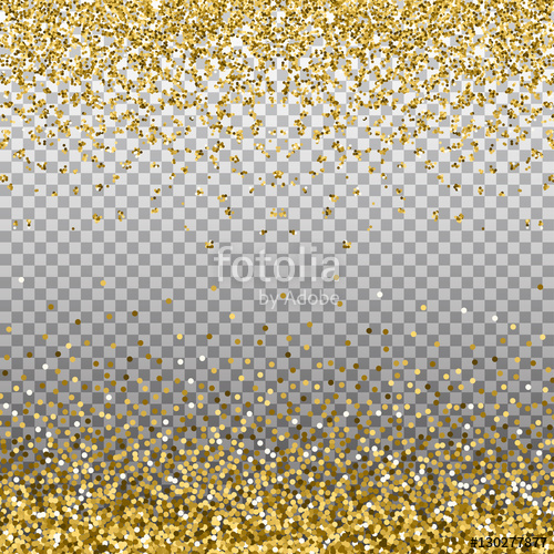 golden glitter new year border