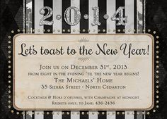 great gatsby new year invitation