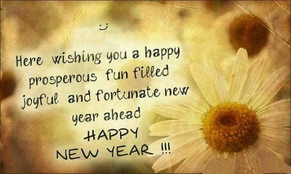 message new year saying