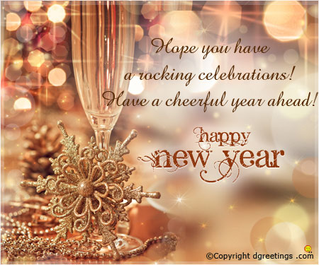 official new year greetings