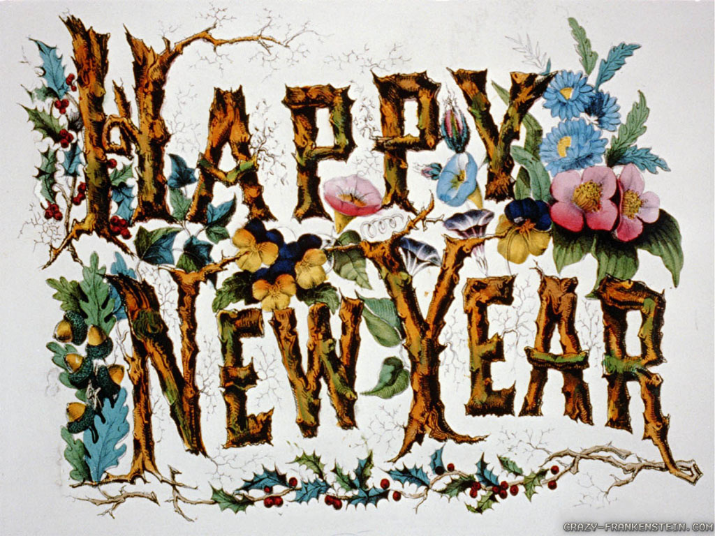 old fashioned new year cards view source