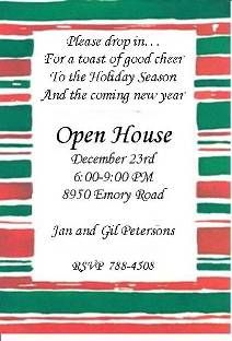 open house new year invitation