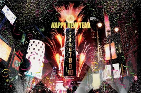 times square happy new year