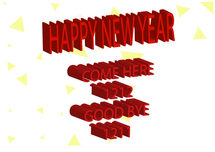 typo new year poster