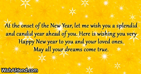 wise new year saying