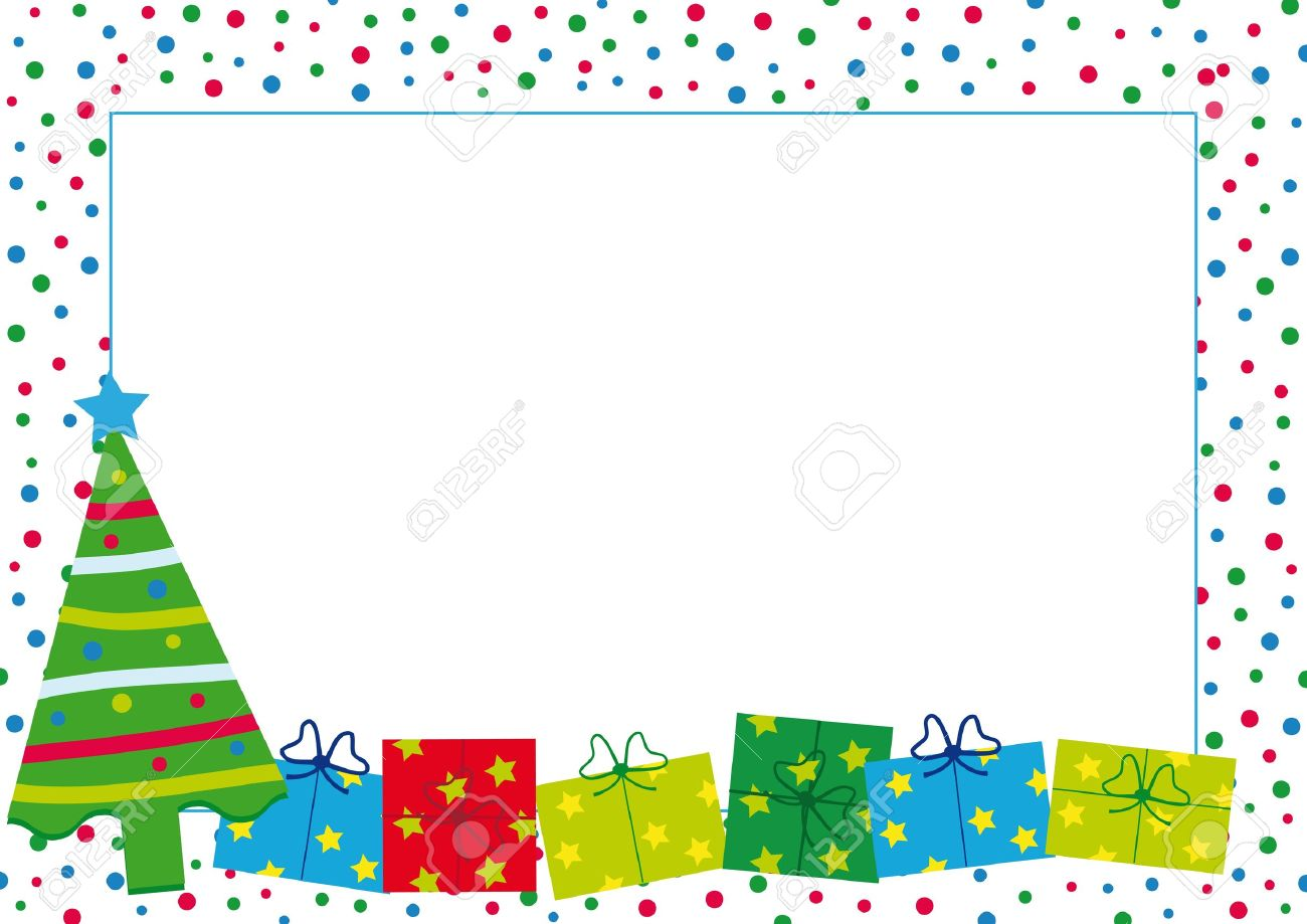 xmas new year border