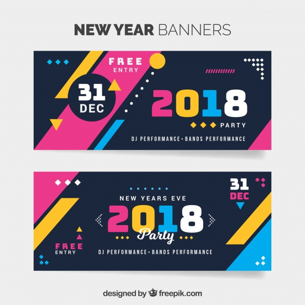 31st night new year banner