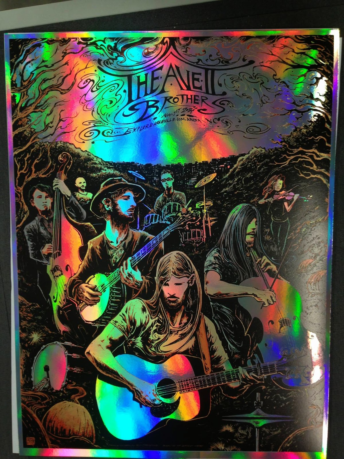 avett brothers new year poster