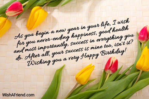 birthday new year messages