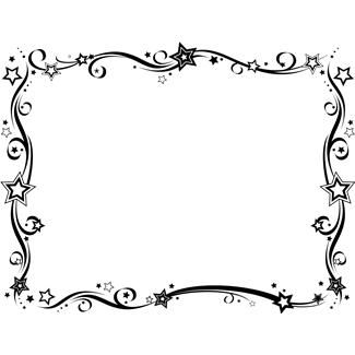 black and white new year border