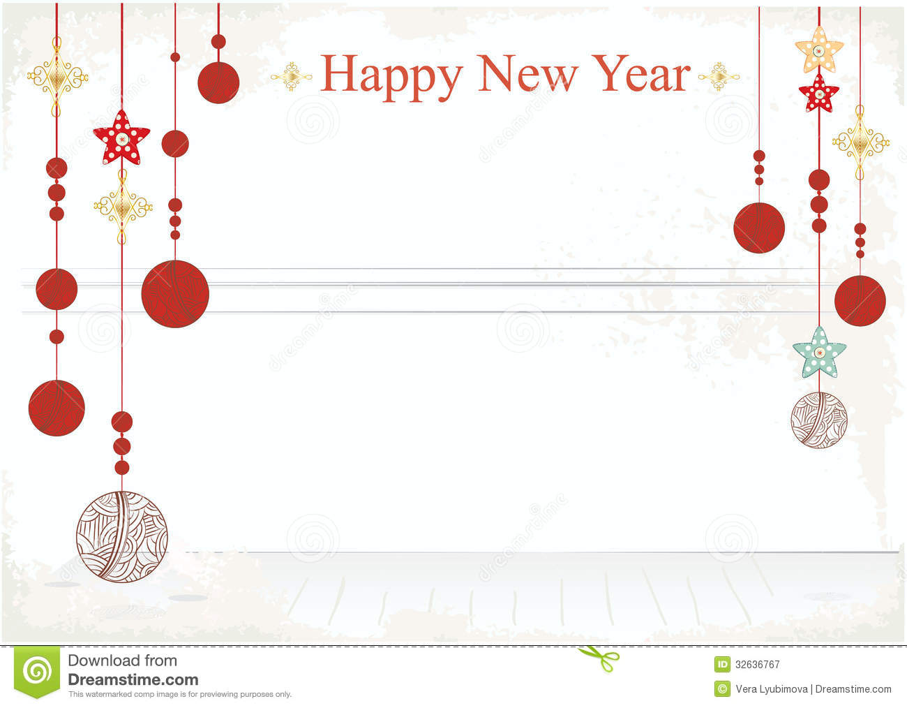 blank new year cards