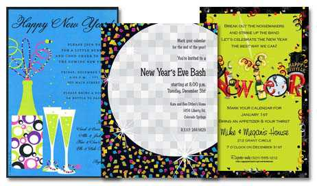 blank new year invitation