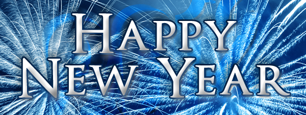 blue new year banner