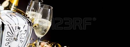 champagne new year banner