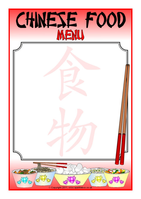 chinese food new year border