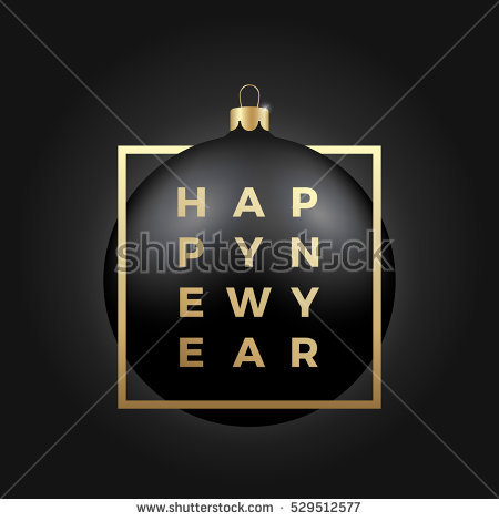 classy new year poster