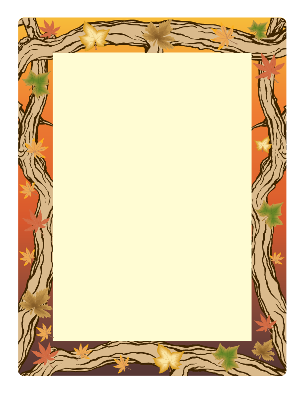 computer paper new year border