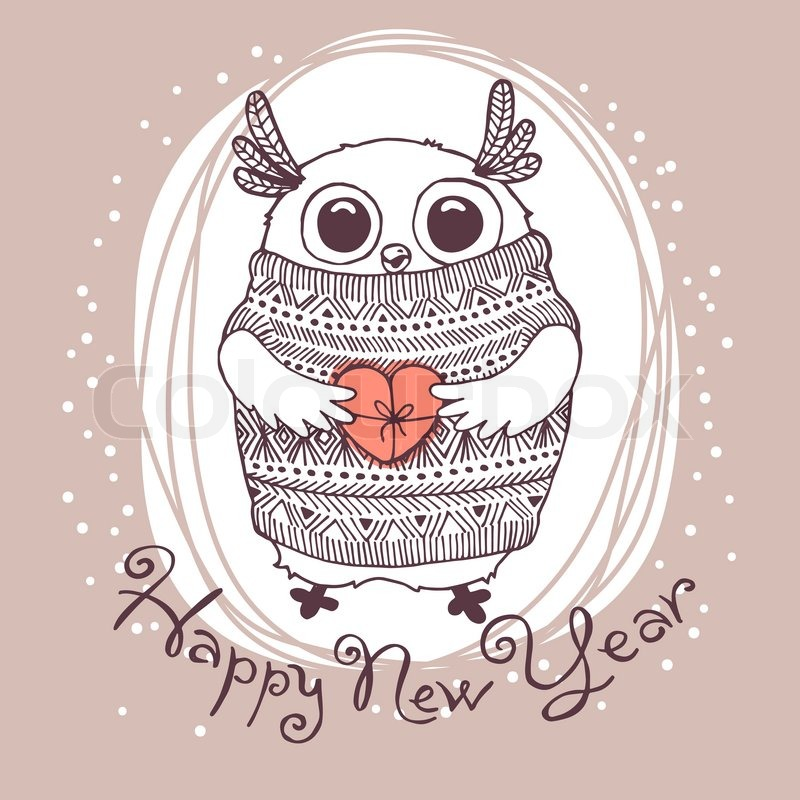 cute new year cards