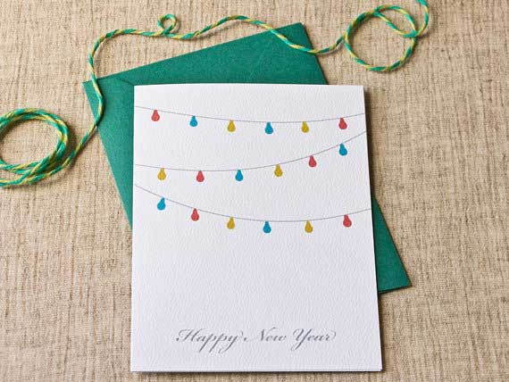 diy new year cards