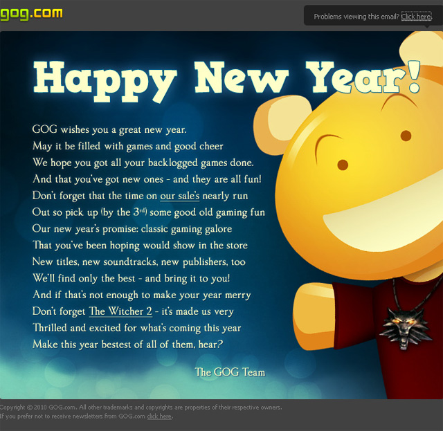 email new year messages