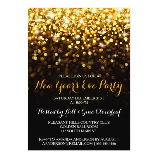 event invitation new year cards