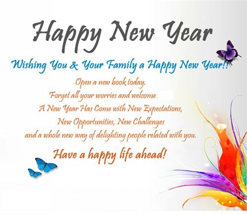 family member new year messages
