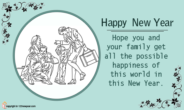 family new year greetings